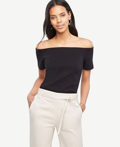 ANN TAYLOR Off The Shoulder Top. #anntaylor #cloth #top