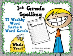 1st grade weekly word and pocket chart word cards
