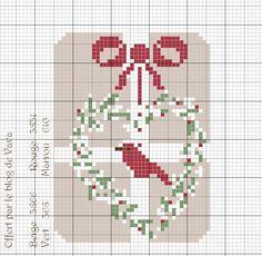 Volet n°3 de la série de Noël 2015 à télécharger en cliquant sur l'épingle Un modèle simplifié pour l'heure mais qui verra probablement l'an prochain une déclinaison sous forme de grille et mini kit pour l'Atelier Valéryan, tout est prévu, il ne restera...