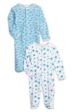 Rosie Pope Print Cotton One-Piece (Set of 2) (Baby Boys) | Nordstrom