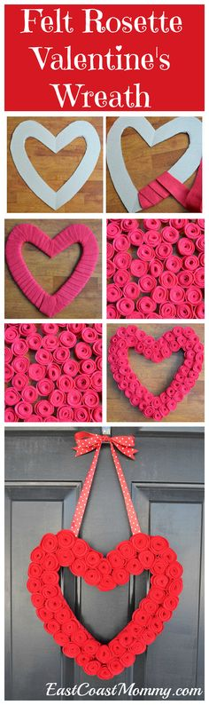 The prettiest Valentine's Day wreath on the web!