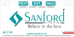 SANFORD VITRIFIED PVT LTD.   We are professional tiles manufacturer and exporter in India.  Our product is various,such as polished porcelain tiles, rustic tiles, Matt and Sugar Finish(Crystal) porcelain tiles . We have many size like 60x60, 80x80, 60x120, 80x120 and 190x1200 in porcelain tiles. Since we are professional our quality can be trusted. We firmly believe that good quality and sincerity will let us go further.  Web site : www.sanfordvitrified.com Email…