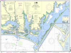 NOAA Nautical Chart 11545: Beaufort Inlet and Part of Core Sound; Lookout Bight