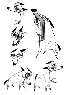 http://michelemassagli.tumblr.com/ dog character design