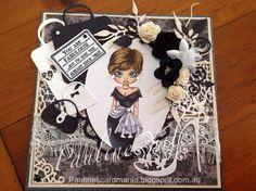 Pauline's Card Mania: EVERY GIRL NEEDS A LITTLE BLACK DRESS !!