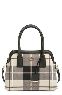 kate spade new york 'cameron street - maise' plaid satchel available at #Nordstrom