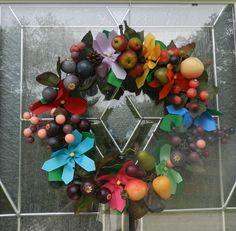Summertime Flower Ribbon Wreath