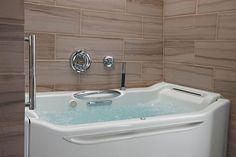 Kohler's Walk-In Bathtub - Awesome Stuff 365 Built In Bathtub, Walk In Bathtub, Dream Bathrooms, Small Bathroom, Bathroom Ideas, Shower Ideas, Master Bathrooms, White Bathrooms, Bathroom Makeovers