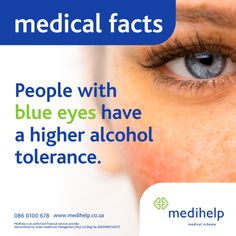Need a medical aid? Medihelp Medical Scheme has ten plans to choose from. People With Blue Eyes, Health Drinks Recipes, Quick Healthy Breakfast, Medical Facts, Health Logo, Health Facts, Healthy Summer, Budget Meals, Fun Facts