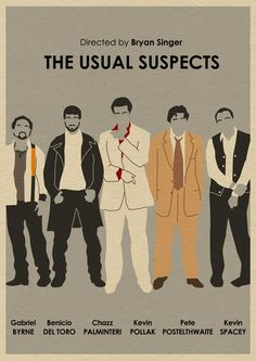 L'affiche du film Usual Suspects 16 x 12 par MonsterGallery sur Etsy