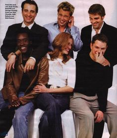 andy garcia & brad pitt & george clooney & don cheadle & julia roberts & matt damon