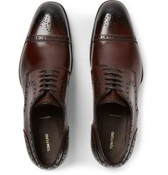 Tom Ford Polished-Leather Brogues