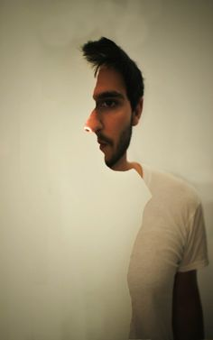Awesome optical illusion! The artist of this piece was very clever