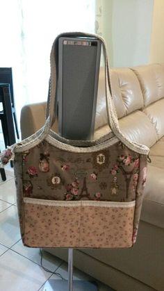 Cotton linen 'Hono' tote bag