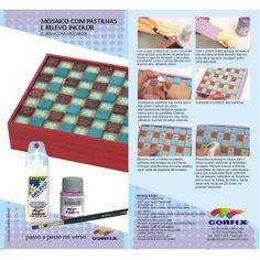 Passo a passo como aplicar a tinta relevo 3D: http://www.ciadascores.com.br/loja-artesanato/product.php?id_product=150