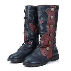 Boot Type: Fashion Boots Material: PU Outsole Material: Rubber Toe: Round Toe Closure Type: Slip-On. Flat Boots Outfit, Casual Boots, Mid Calf Boots, Knee Boots, Winter Fashion Boots, Leather Heels, Pu Leather, Boots Online, Shoes