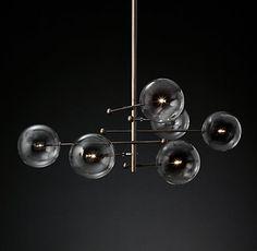 Glass Globe Mobile 6-Arm Chandelier | RH Modern
