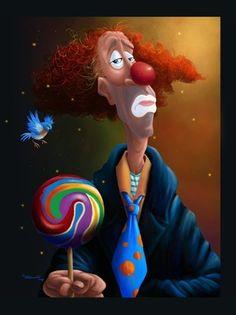 "Giclee Prints, art prints, ""Clown"" by Brian Beausoleil"