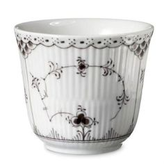 Black Fluted Half Lace Thermo Cup - Royal Copenhagen