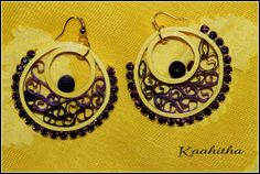 Super Light weight Quilled earrings check out more designs at https://kaahitha.facebook.com
