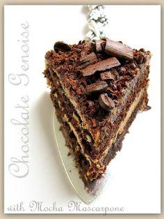 Chocolate Genoise Cake with Mocha Mascarpone - Cake Nirvana Milk Recipes, Sweet Recipes, Cake Recipes, Dessert Recipes, Party Recipes, Cheesecake Frosting, Lime Cheesecake, Raw Desserts, Chocolate Desserts