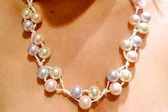 Hacer un collar de perlas con cuentas Anthropologie el ojo del huracán