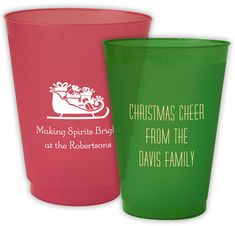 Design Your Own Christmas Colored Shatterproof Cups
