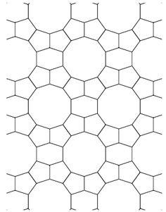 geometric design pentagons and decagons and long hexagons Patchwork Patterns, Star Patterns, Tile Patterns, Geometric Tiles, Geometric Designs, Rotational Symmetry, Crochet Motif, Irish Crochet, Crochet Stitches