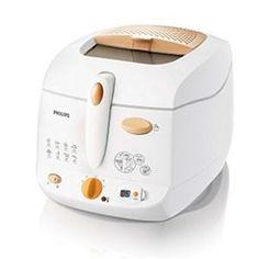 PHILIPS - HD6159.55 _ Friteuse Timer 1,3 kg - Son filtre multicouche amovible permet de réduire les odeurs de friture - Cuve anti-adhésif et amovible pour une vidange et un nettoyage facile - Parois froides - Minuteur numérique détachable pour programmer la durée de cuisson - Panier réglable en hauteur - Thermostat réglable avec témoin lumineux - Bac de conservation de l'huile avec capot filtrant - Tous les éléments passe au lave-vaisselle, à l'exception du boîtier - Rangement du cordon.