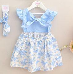 Littleonesuk Girls Easter Dresses, Baby Girl Dresses, Little Dresses, Baby Dress Design, Baby Girl Dress Patterns, Baby Girl Fashion, Kids Fashion, Sleeves Designs For Dresses, Diy Dress