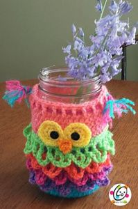 Owl Mason jar cover
