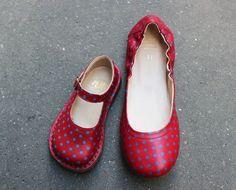 Chaussures rouges à pois Pèpè   #lillibulle #shoes