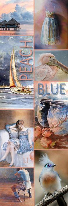 Lu's Inspiration ღ peach and blue