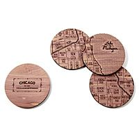 Chicago Neighborwoods Map Coasters, $36.00 // by Aymie Spitzer, from Uncommon Goods