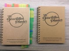 The Dissertation Planner A5 Notebook The personal 180-page | Etsy