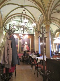 Vienna's oldest cafes: Cafe Central; The coffee was delicious but the best part of our afternoon was the cakes. They were so beautiful!