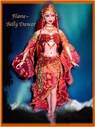 OOAK Belly Dancers, Genies, Middle Eastern Princesses,OOAK Barbie dolls, one of a kind dolls