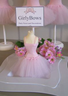Ballerina Birthday Place card holders  20 by FavorsByGirlybows