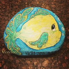 You are the only fish in the sea for me  #malpåsten#sten#stenelene#paintedstones#stones#rockpainting#rocks#youaretheonlyfishintheseaforme#thisiswhatido#thisiswhatilove