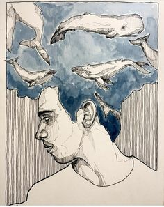 """my head is an animal"" and mine is an entire biome Arte Peculiar, Arte Sketchbook, Ap Art, Art Drawings Sketches, Art Portfolio, Portrait Art, Aesthetic Art, Art Inspo, Painting & Drawing"