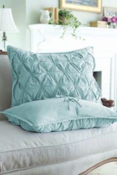 luxury throw pillows in soft aqua