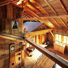 Les Greniers du Meix-Lagor, Doubs #Decoration #interieur #home #chalet #bois