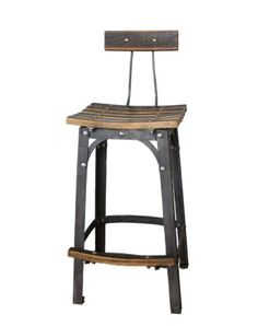 One-of-a-kind Bourbon Barrel Stools, made in Lawrenceburg, #Kentucky by a blacksmith's hand.  Incredible  BourbonandBoots.com