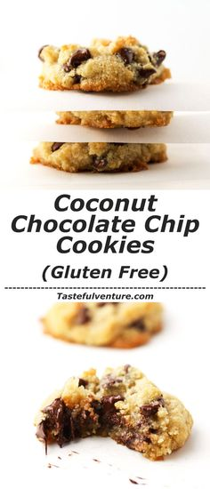 These Coconut Chocolate Chip Cookies are so soft and chewy, you'll never know they're Gluten Free! | http://Tastefulventure.com