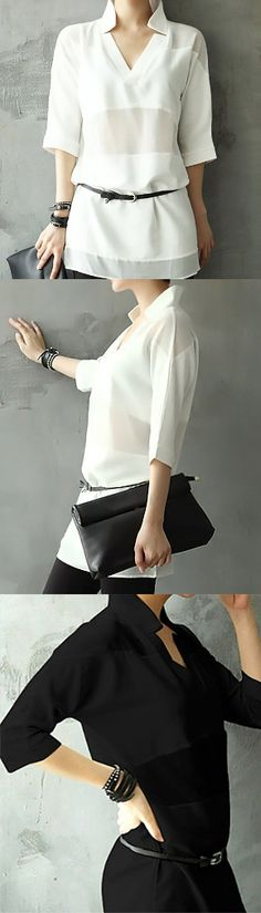 Trendy Summer Chiffon Panel Top. Check out the trendy summer fashion for 2015 today