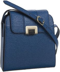 Christa Blue Leather Bag by Bally