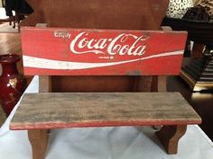Vintage Coca Cola Bench.. a good place to sit and have a coke.