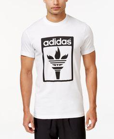 7e9876c5277f adidas Originals Men s Trefoil Fire Graphic T-Shirt   Reviews - T-Shirts -  Men - Macy s