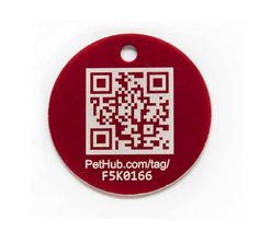 $12.95-$12.95 PetHub Smartphone ID Tag (Small/Red) - Most people are familiar with the concept of micro chipping a pet. Our tag follows a similar idea but instead of going to a shelter to get the animal scanned, anyone with a smartphone can scan your pet's tag to help get it home fast (and skip the step of going to a vet or shelter to look for a chip). Here's the cool part: the bar code and web a ...
