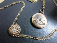 art nouveau slide chain with locket